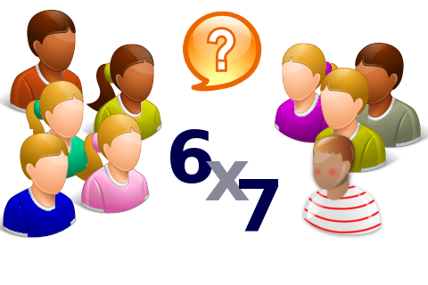 Enfants apprenant les tables de multiplication